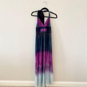 BCBG LONG Tie-DYE Dress Size 0